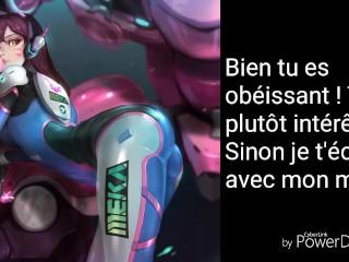 D.Va (Hana Song) French JOI CEI Femdom Hardcord