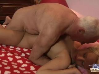 Grandpa Bang's Teen Yummy Nympho She Swallows Spunk Deepthroat Blow-Job
