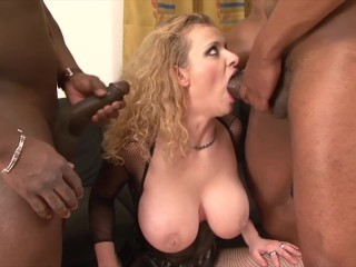 Titillating Interracial Hardcore Anal Fuck With Blow Job And Spunk Swallowing Milf