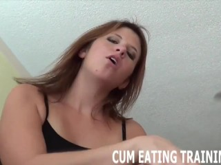 Jizz Swallowing Fetish And CEI Femdom Porn