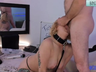 Teen Rope Tied Eats Sperm Facial