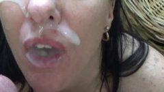 Swallow After Big Juicy Creamy Facial