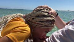 Public Sloppy Blow Job On The High Seas, Oral Creampie-Freya Stein