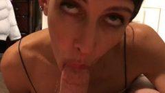 Amateur Whore Enjoys Giving Blowjobs And Gobbling Sperm Pov