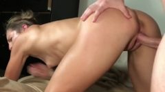 Hardcore Face-sitting, Gagging & Rimming Til He Nuts In Her Mouth