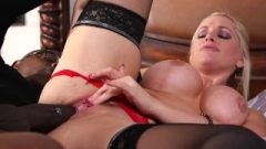 Lingerie Clad Succubi Alena Croft Roughly Ass-Hole Ruined By Big Black Dick