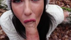 Freckled Nubile Sucks & Gobbles In The Woods – Shaiden Rogue