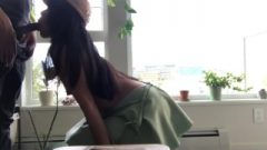 Sensual Neighbor Chick Gives Blow Job In Front Of Window