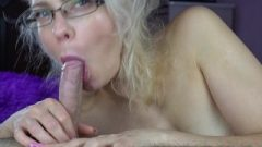 Cougar Rests On Steptson's Penis After Oral Creampie-littlemarylollipop