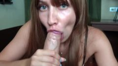 Honey Arousing Blow-Job Massive Penis After Work – Orgasm Closeup
