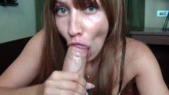 Honey Arousing Blow-Job Massive Penis After Work – Orgasm Closeup