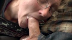 Red Head Vixen Ivy Eating Dick Off Husband In Public Parking Lot